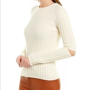 Helmut Lang Iconic Elbow Cut Out Sweater Large NWT